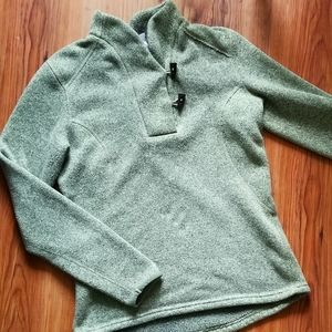 The North Face heather green pullover